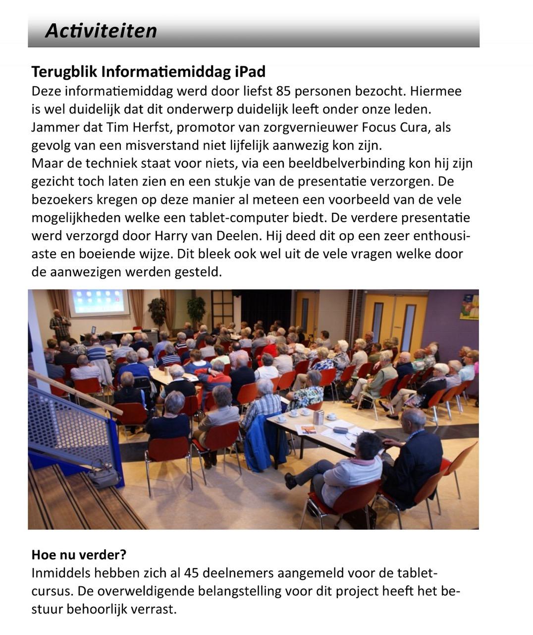 Terugblik informatiemiddag iPad