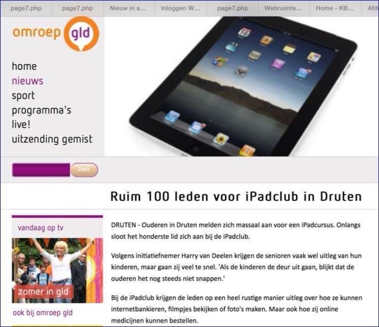 Omroep Gelderland 100 leden