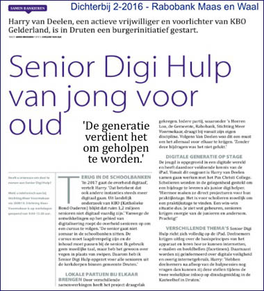 Krantenbericht Senior Digi Hulp van jong voor oud