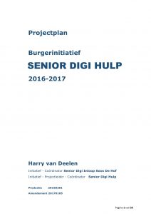 Burgerinitiatief Senior Digi Hulp